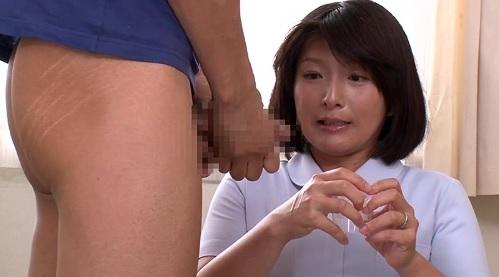 熟女人妻ナースが精液採取に失敗して自らの体を使う