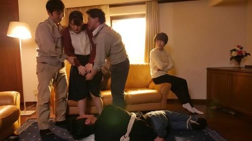 桜木優希音拘束された夫の目の前で輪姦され寝取られてしまう人妻