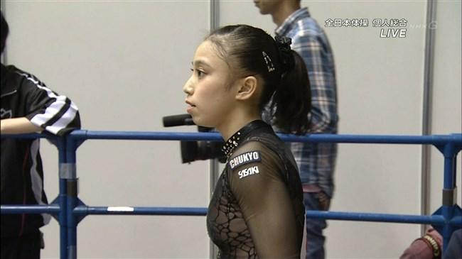湯元さくら~全日本体操でのレオタード姿で開脚した股間からハミ出しそうで興奮!0004shikogin