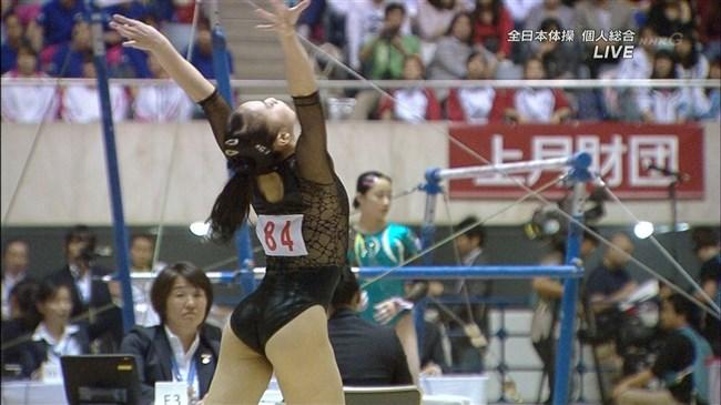 湯元さくら~全日本体操でのレオタード姿で開脚した股間からハミ出しそうで興奮!0009shikogin