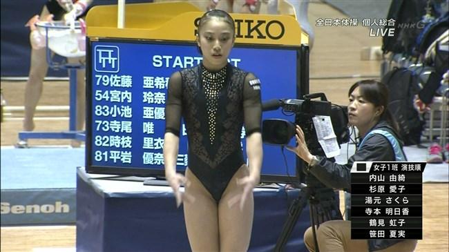 湯元さくら~全日本体操でのレオタード姿で開脚した股間からハミ出しそうで興奮!0010shikogin