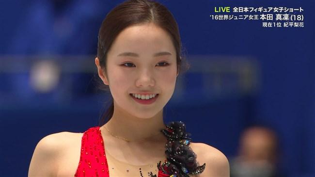 本田真凜~全日本フィギュアスケートでエロカワ過ぎ!記録よりも美しさですよ!0012shikogin
