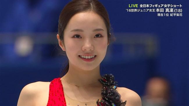 本田真凜~全日本フィギュアスケートでエロカワ過ぎ!記録よりも美しさですよ!0013shikogin