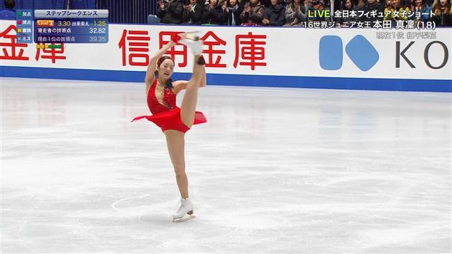 本田真凜~全日本フィギュアスケートでエロカワ過ぎ!記録よりも美しさですよ!0016shikogin