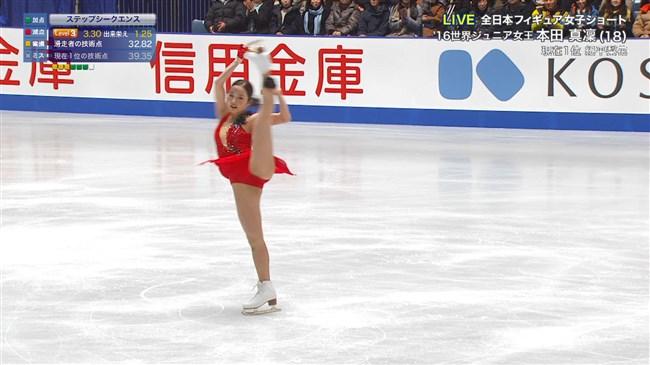 本田真凜~全日本フィギュアスケートでエロカワ過ぎ!記録よりも美しさですよ!0006shikogin