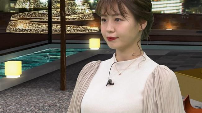 井口綾子~TBSビジネスクリックでのミニスカ爆乳アピールの姿がエロ過ぎる!0002shikogin