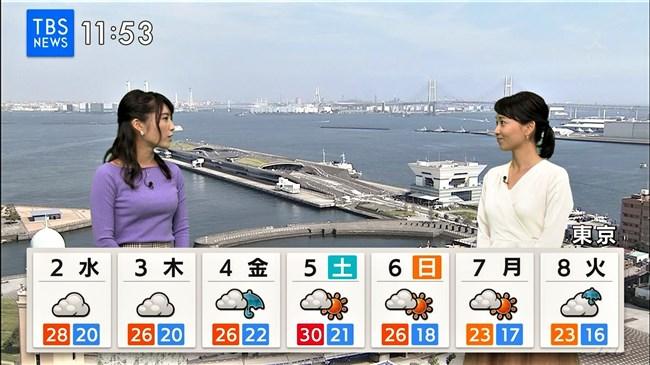 久保井朝美~最近のTBSひるおび!でニット服率が高くなった巨乳気象予報士!0013shikogin