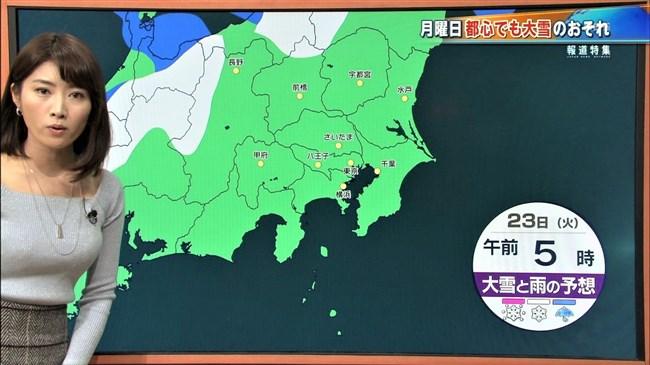 久保井朝美~最近のTBSひるおび!でニット服率が高くなった巨乳気象予報士!0005shikogin