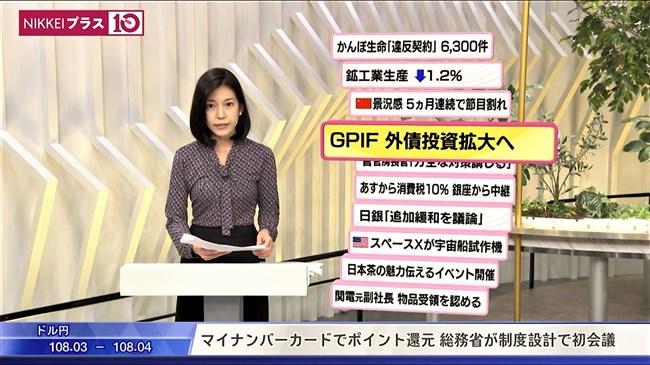 西野志海~テレ東Newsモーニングサテライトでのプックリ胸の膨らみが最高!0010shikogin