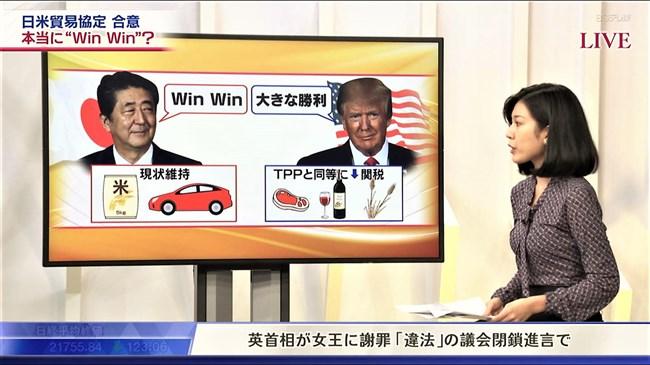 西野志海~テレ東Newsモーニングサテライトでのプックリ胸の膨らみが最高!0011shikogin