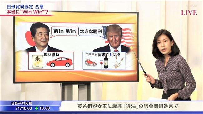西野志海~テレ東Newsモーニングサテライトでのプックリ胸の膨らみが最高!0012shikogin
