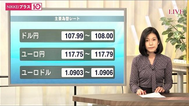 西野志海~テレ東Newsモーニングサテライトでのプックリ胸の膨らみが最高!0015shikogin