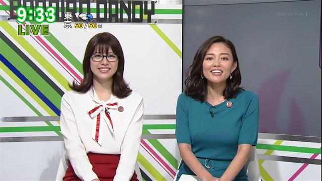 阿部優貴子~東京MXテレビでの巨乳強調ワンピ姿がエロカワで最高!0015shikogin