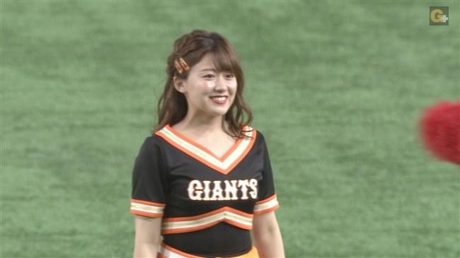 尾崎里紗~巨人公式マスコットガールでの胸チラダンスがエロカワ!0009shikogin