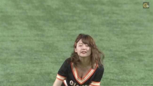 尾崎里紗~巨人公式マスコットガールでの胸チラダンスがエロカワ!0013shikogin