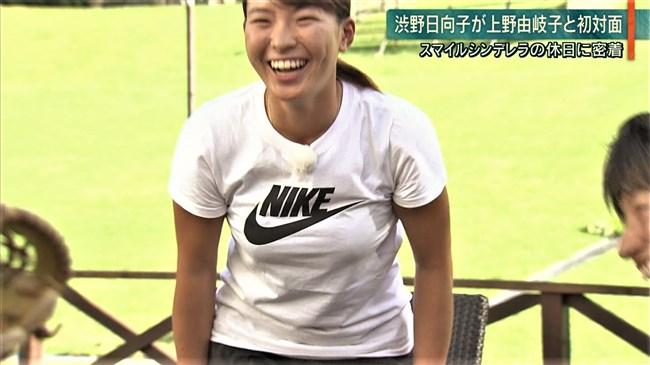 渋野日向子~テレビ出演時のTシャツを突き破るようなパンパンの胸元が凄い!0003shikogin