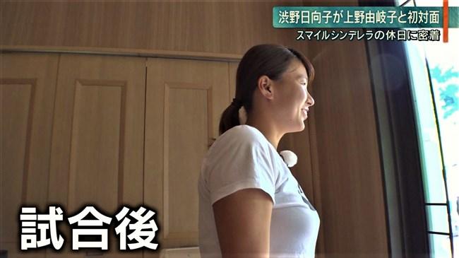 渋野日向子~テレビ出演時のTシャツを突き破るようなパンパンの胸元が凄い!0009shikogin