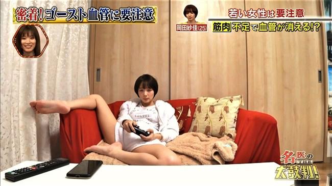 岡田紗佳~名医の太鼓判での大股開きの自宅シーンは仕込み感たっぷりでエロ笑!0009shikogin