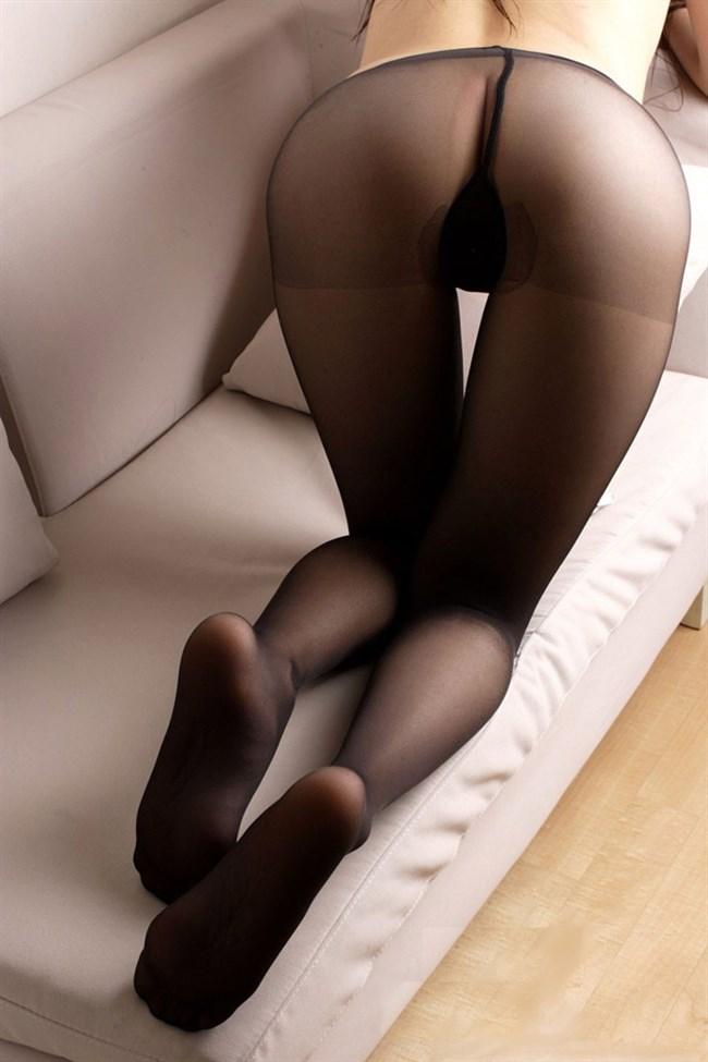 黒パンスト姿のお姉さんがお尻を突き出すと股間に響く件www0007shikogin