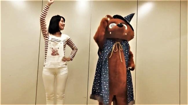 望木聡子~ウルフィダンスで白のピタパン姿がモリマンでスジっててエロ過ぎ!0008shikogin