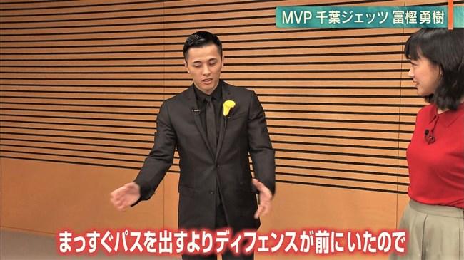 竹内由恵~丸くクッキリと浮き出たオッパイと透けて見えるインナーがエロ過ぎる!0003shikogin