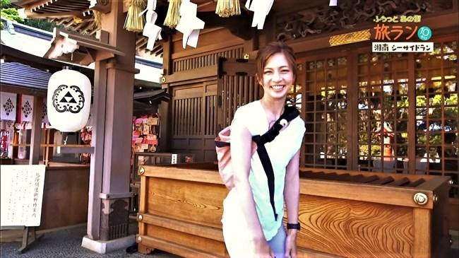 安田美沙子~NHKの薄いピタパン姿で透けたパンティー丸見えで走る番組に出演!0004shikogin