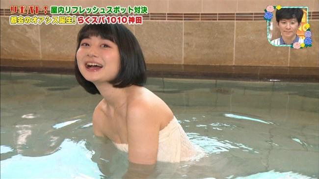 小室ゆら~アイドルレポーターが王様のブランチでバスタオル巻きで温泉ロケ!0005shikogin