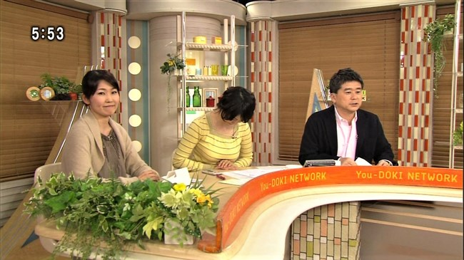 杉浦友紀~NHK名古屋局に勤務していた当時の初々しい姿でもオッパイはデカかった!0005shikogin