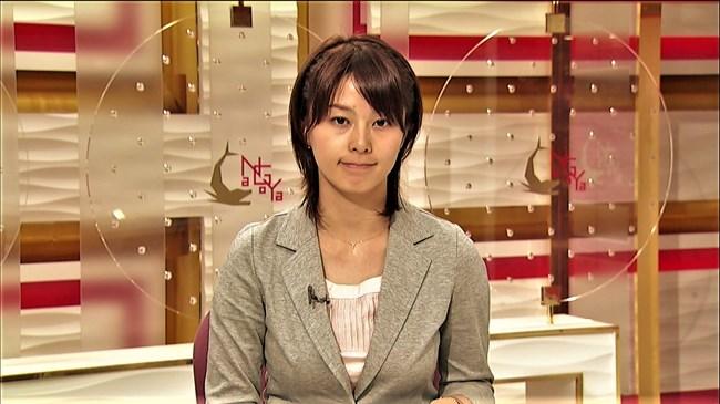 杉浦友紀~NHK名古屋局に勤務していた当時の初々しい姿でもオッパイはデカかった!0007shikogin