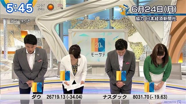 角谷暁子~ニュースモーニングサテライトでの横チチ凄!こんなにデカかった!0006shikogin