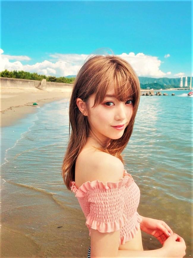 中野恵那~ヤングジャンプの初水着グラビアはスレンダー美人な感じが最高!0012shikogin