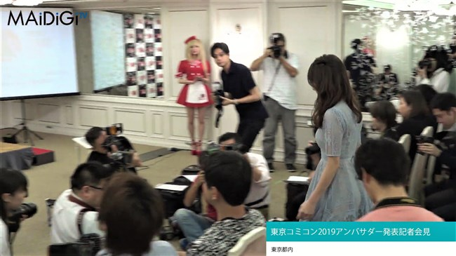 宇垣美里~東京コミコン2019にてレース系シースルーのセクシーワンピで登場!0006shikogin