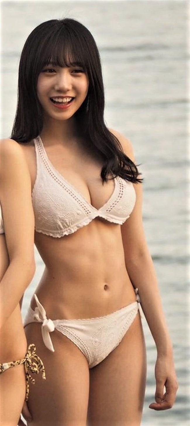 横野すみれ[NMB48]~下着のような白水着姿で巨乳を公開してから人気が急上昇!0002shikogin