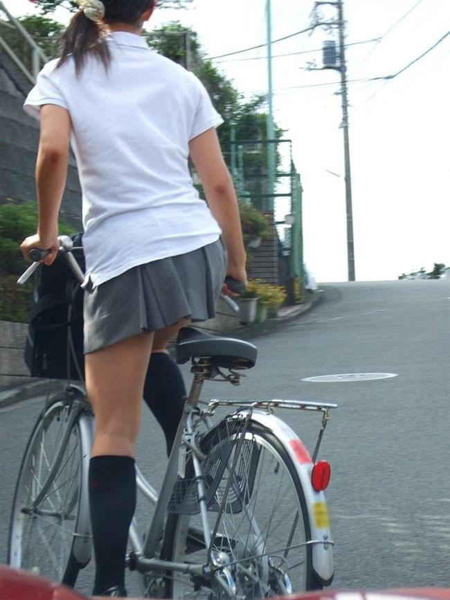 決して生足にムラムラしてはいけないJKが自転車乗る姿www0022shikogin