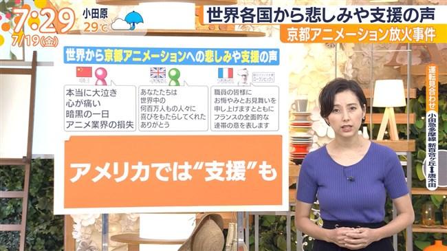 加藤シルビア~TBSの美熟女アナがノースリーブニット服で胸元を全開放!0009shikogin