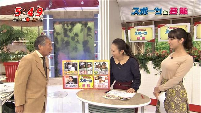 加藤シルビア~TBSの美熟女アナがノースリーブニット服で胸元を全開放!0013shikogin