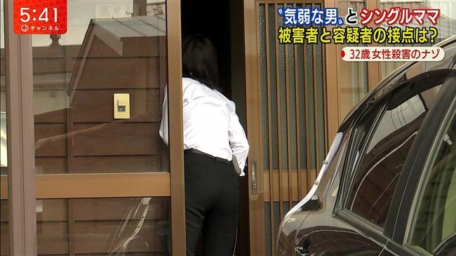 桝田沙也香~パンツルックでの取材でパンパンのヒップにパン線クッキリ!0016shikogin