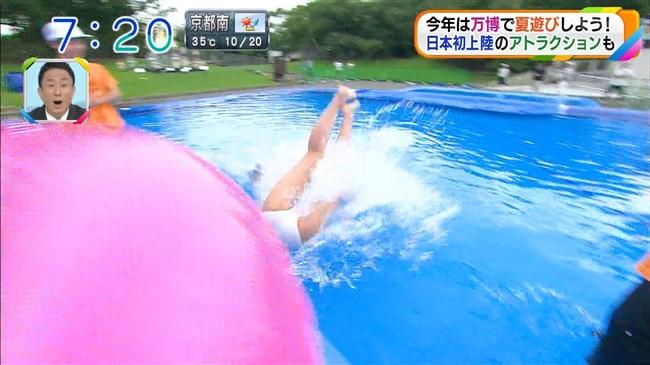 阪本智子~朝日放送で人妻美人レポーターがプールで大股開き放送事故!0008shikogin