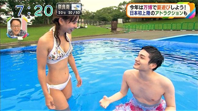 阪本智子~朝日放送で人妻美人レポーターがプールで大股開き放送事故!0011shikogin