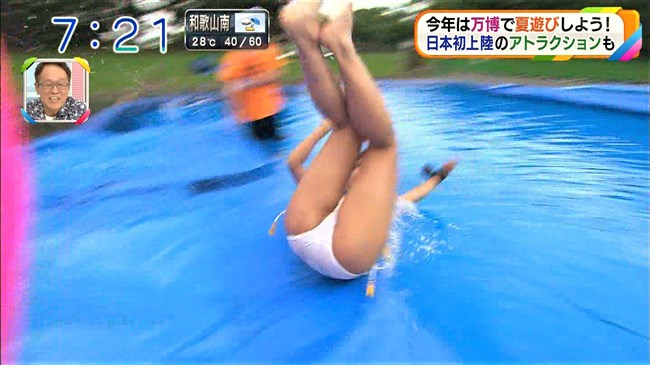 阪本智子~朝日放送で人妻美人レポーターがプールで大股開き放送事故!0012shikogin