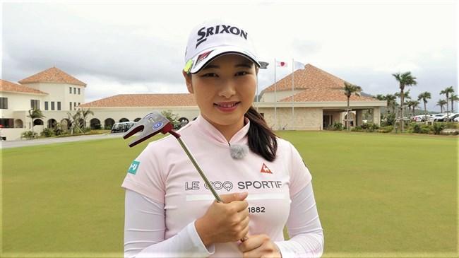 小祝さくら~女子ゴルフ界の若手新星!オッパイ大きくてムッチリボディー!0010shikogin