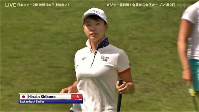 澁野日向子~全英女子オープン優勝の女王は可愛くて超巨乳のエロボディー!0004shikogin