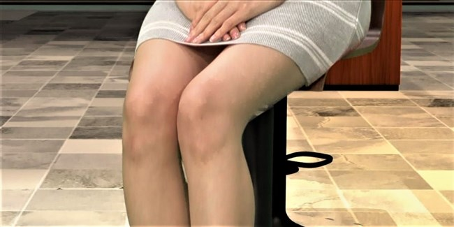 阿部菜渚美~TBSビジネスクリックでのパンチラしそうな美脚が悩まし過ぎる!0003shikogin