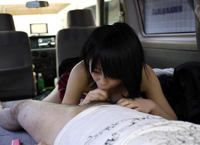 車内で彼氏のち〇ぽ咥えてるえっちなお姉さんwwww0012shikogin