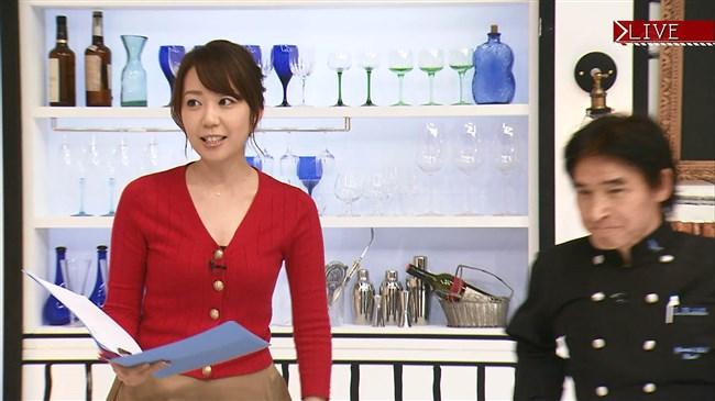 須黒清華~BSジャパン秋の激ウマ食材探検隊にて胸の谷間を出しまくりで興奮!0008shikogin