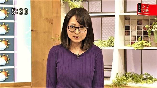 福岡良子~NHKシブ5時で久々にニット服姿でエロい胸元のラインを見せ魅了!0003shikogin