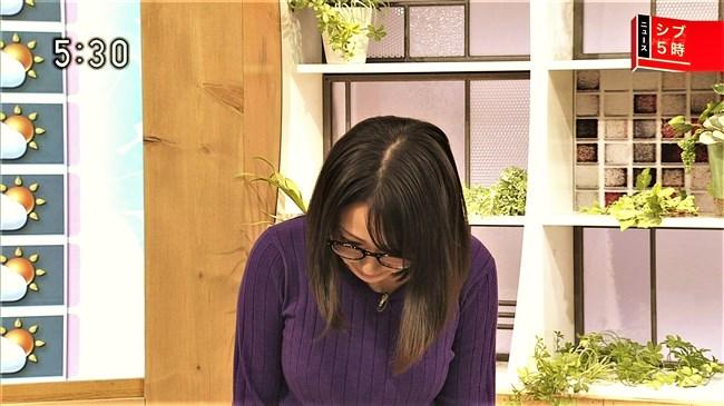 福岡良子~NHKシブ5時で久々にニット服姿でエロい胸元のラインを見せ魅了!0004shikogin