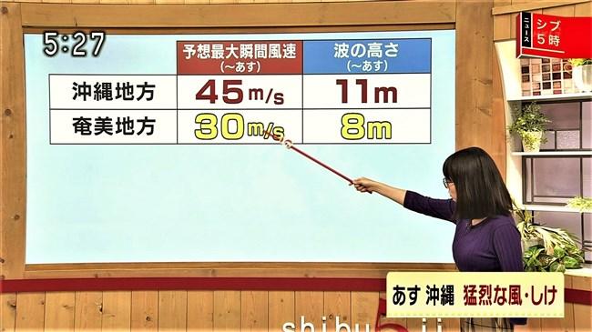 福岡良子~NHKシブ5時で久々にニット服姿でエロい胸元のラインを見せ魅了!0008shikogin