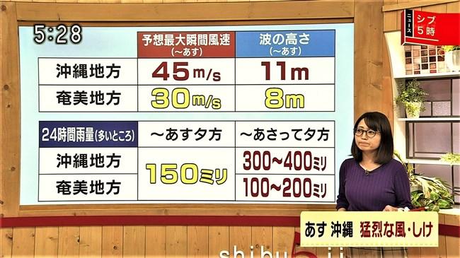 福岡良子~NHKシブ5時で久々にニット服姿でエロい胸元のラインを見せ魅了!0009shikogin