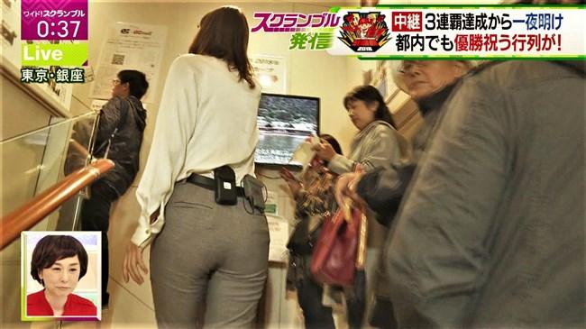 桝田沙也香~ピタピタパンツでの取材を斜め下アングルで撮られパン線までも!0003shikogin